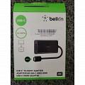 Cáp Chuyển USB-C to HDMI Belkin F2CU038BTBLK
