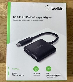 Cáp chuyển Belkin USB-C to HDMI Charge Adapter